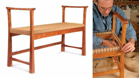 weaving a bench