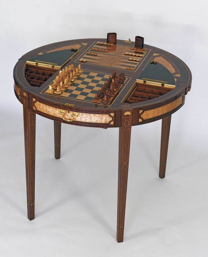 Sapele Game Table - FineWoodworking