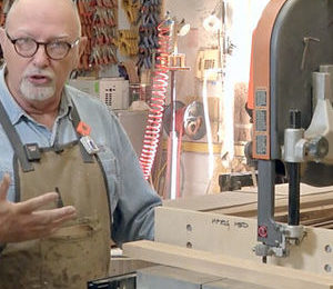 michael fortune at the bandsaw