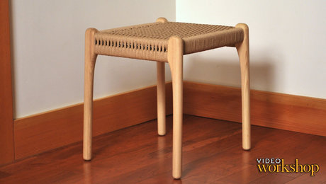 Woven side stool