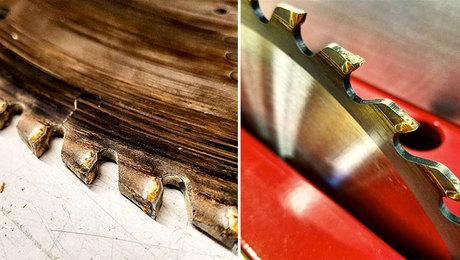 dirty tablesaw blades