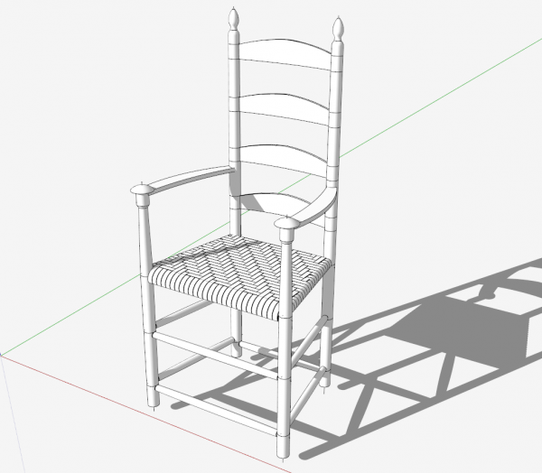 Model of chair