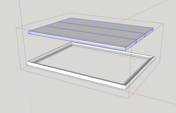 reinforced bridle joint miter joint with floating panel sketchup model