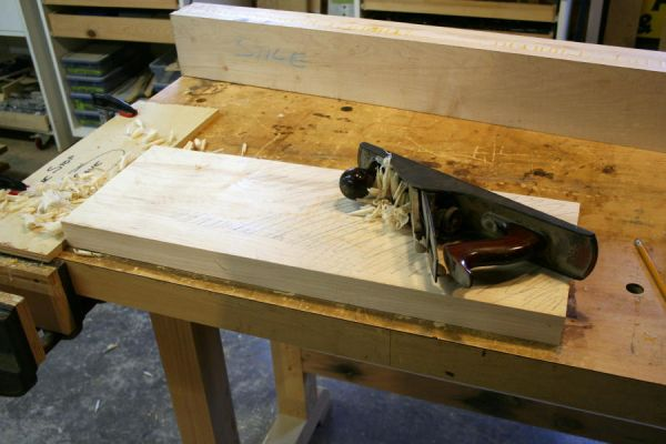 jointing a wide board by hand