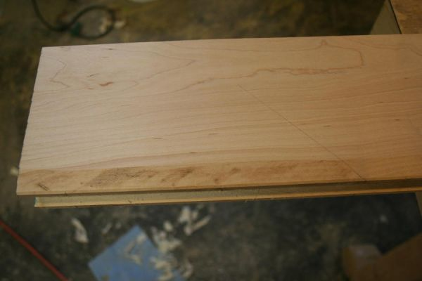rough cutting a door molding detail on the tablesaw