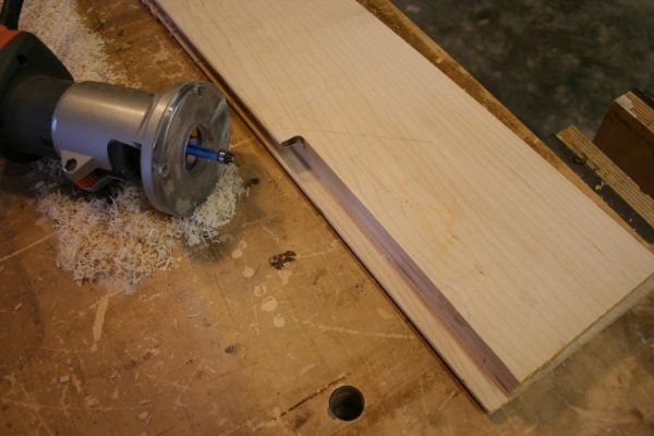 domino or loose tenon joinery requires removing the groove lips where the rails and styles meet