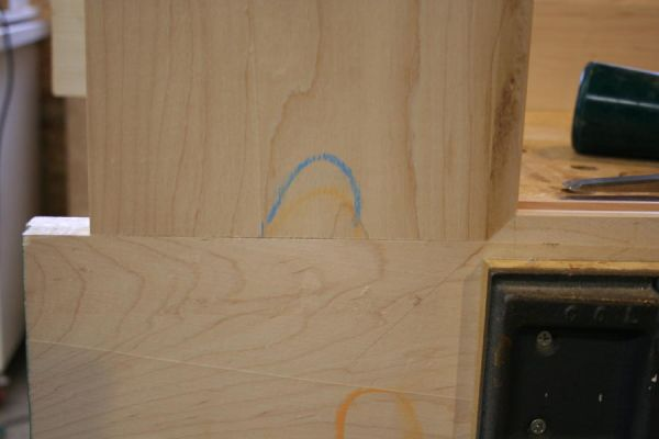 hand fit miters on interior corners of a frame and panel door