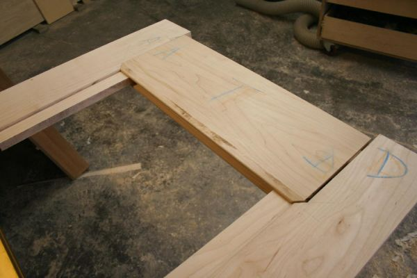 dry fitting router cut loose tenon frame and panel door