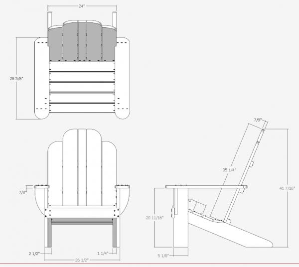 chair plan for lumber