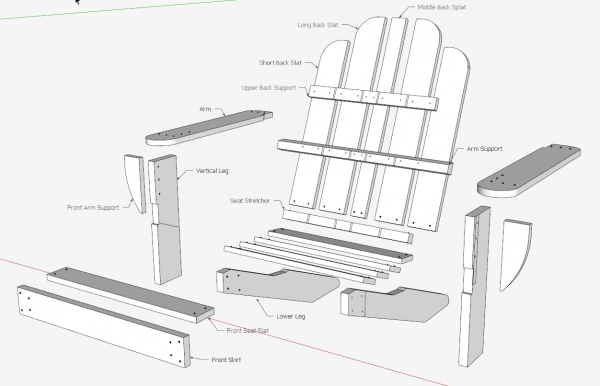 how to assemble lumber for the chair