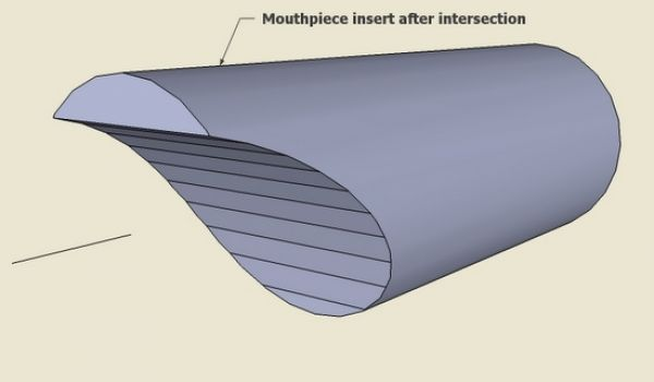 recorder instrument in sketchup