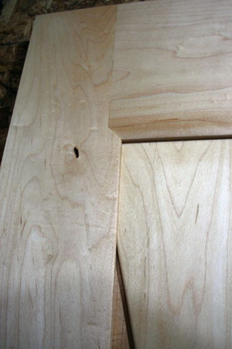 A close up of the joinery