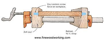 pipe-clamp cauls