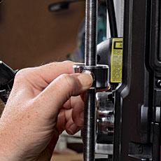 18-900L 18-in. Delta Drill Press review; quick release depth stop