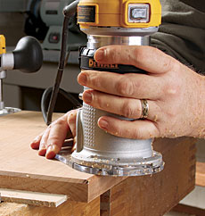 Dewalt dwp611pk router combo kit finewoodworking in fixed base mode left dewalts compact router can profile an edge one handed like a trim router in plunge mode right the tool becomes a precision keyboard keysfo Choice Image