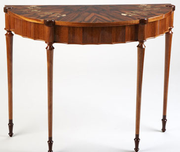 Russell Garcia-Lechelt Demilune Table