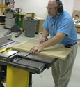A sliding crosscut table for DeWalt's hybrid tablesaw