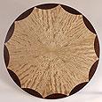 scalloped edging veneer pattern for radial sunburst tabletop design