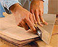 how to sharpen and use a veneer saw