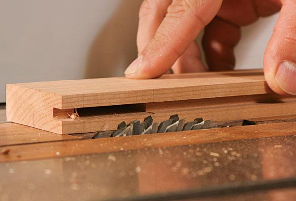 tenons with a dado blade set