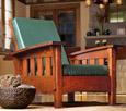 Bow-arm morris chair