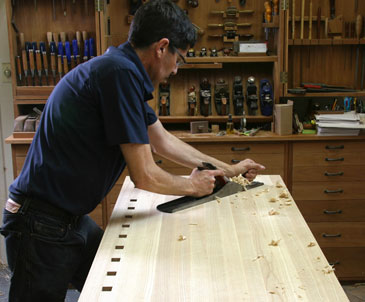 flattening a benchtop