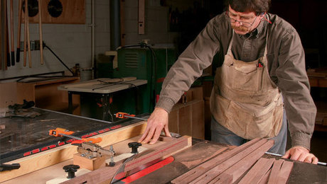 Table saw tapering jig how to video