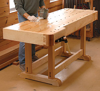 Workbench plans and projects for woodworkers for Working table design ideas