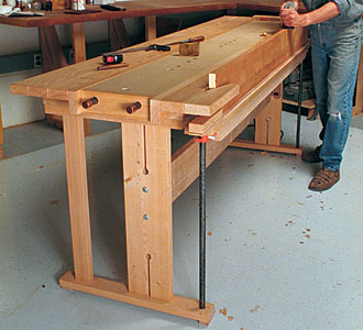 woodworkers work bench
