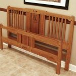 Build a mission style bed fine woodworking for Mission style bed frame plans